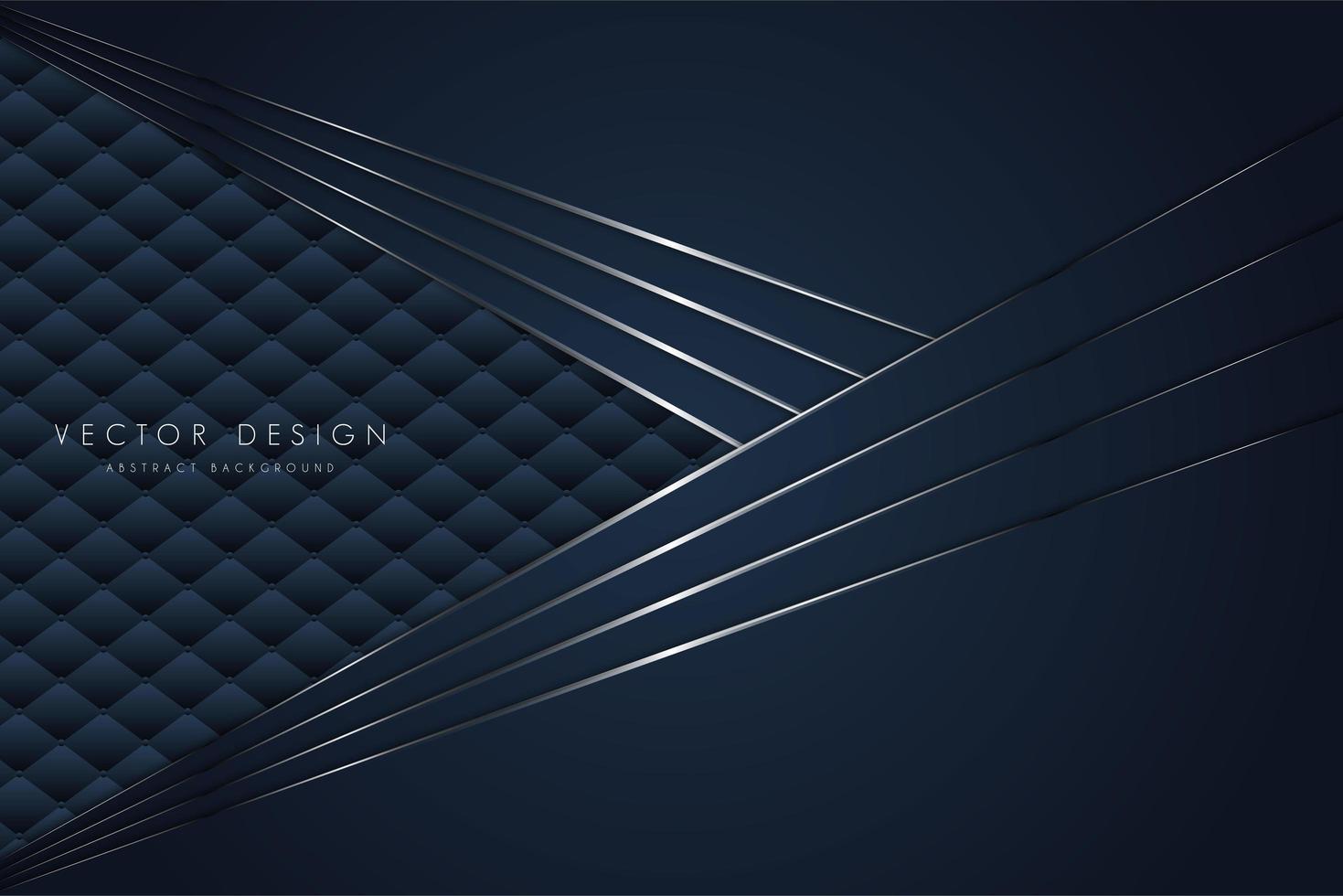 Capas en ángulo azul metálico sobre textura de tapicería vector