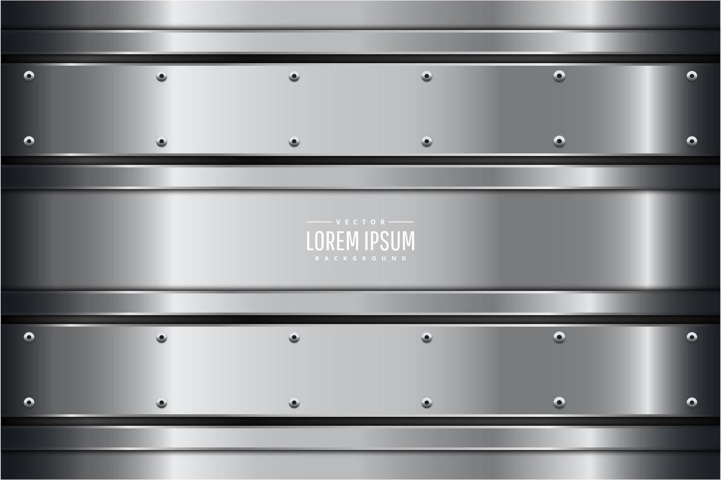 Chrome Metallic Panels with Screws vector
