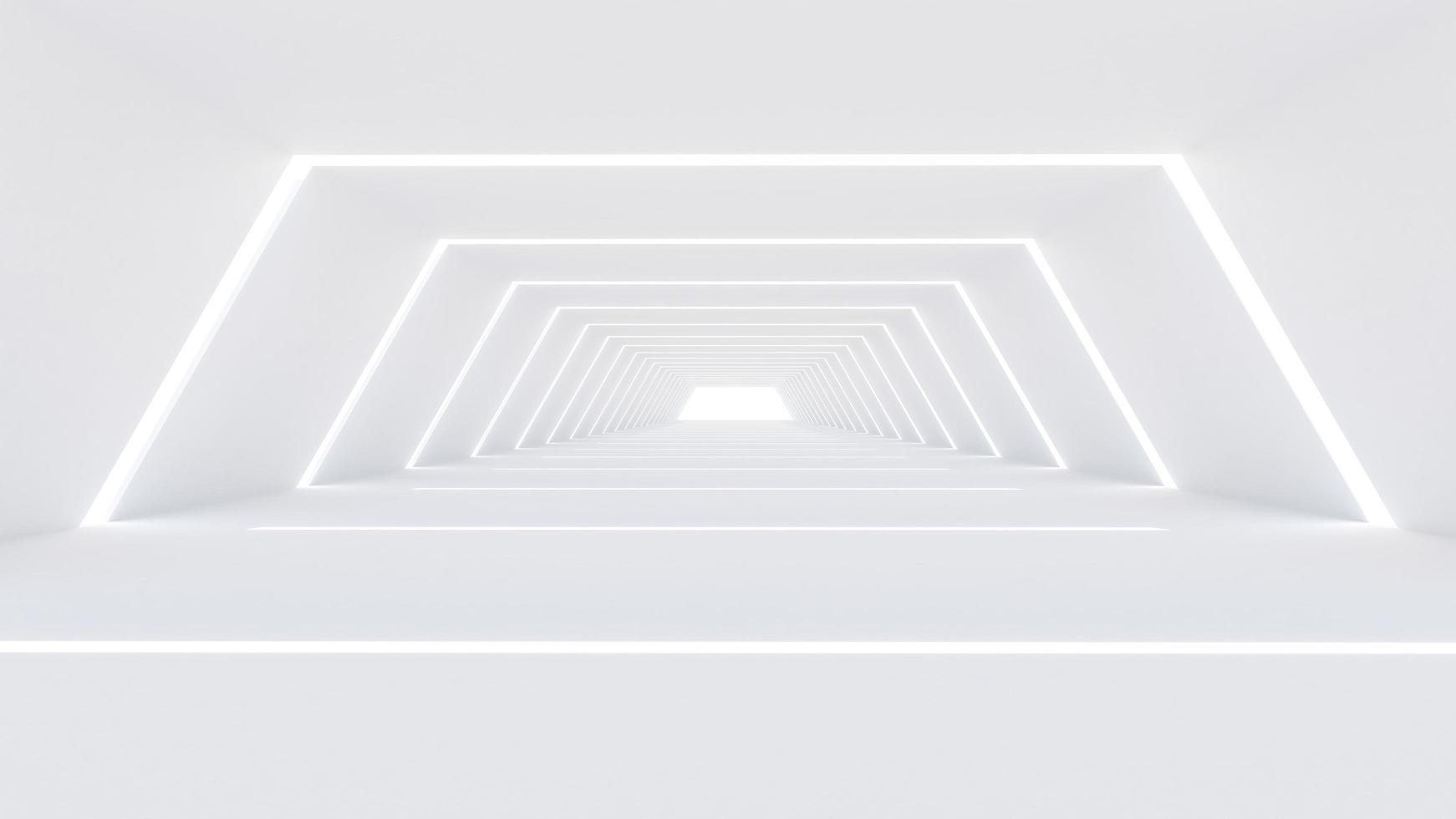 Representación 3D de una gran sala foto