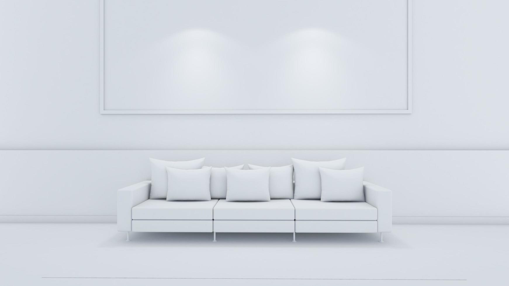 Rendu 3D du design d'intérieur de salon photo
