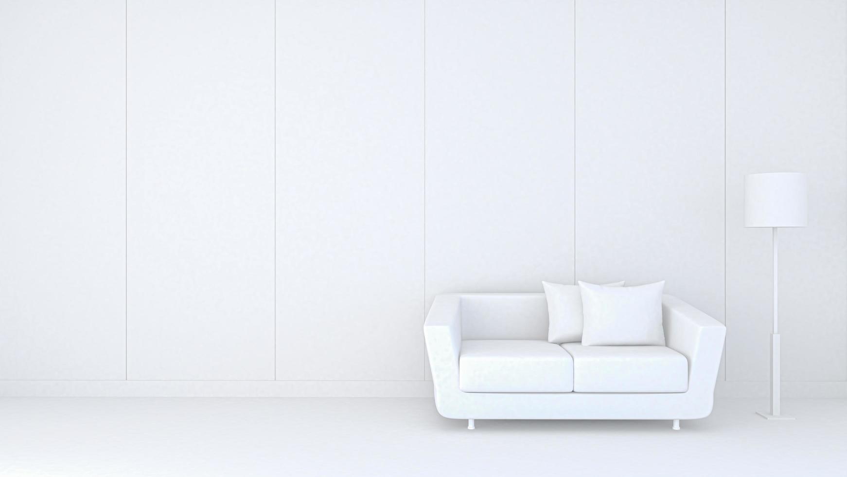 3D-weergave van een moderne woonkamer foto
