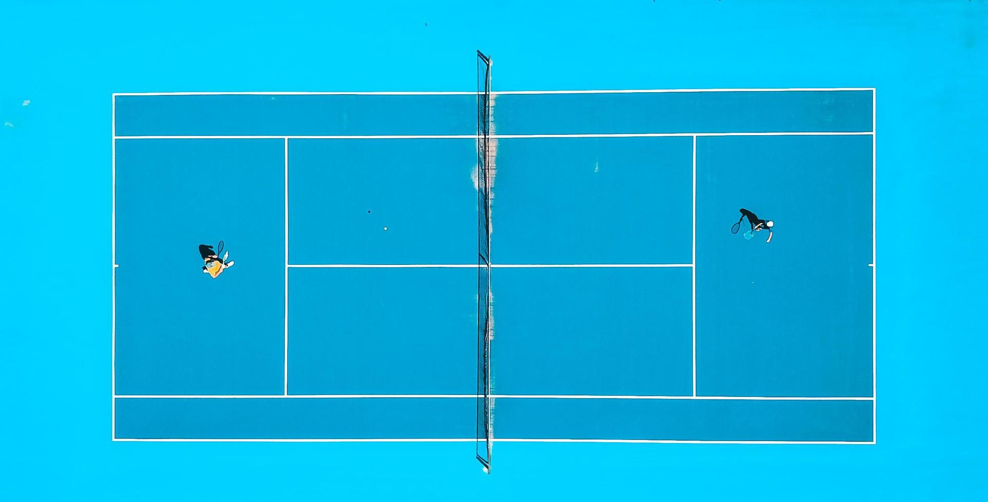 Aerial photography of tennis match photo