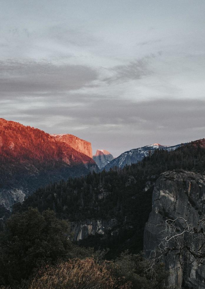 Sunrise on mountains photo
