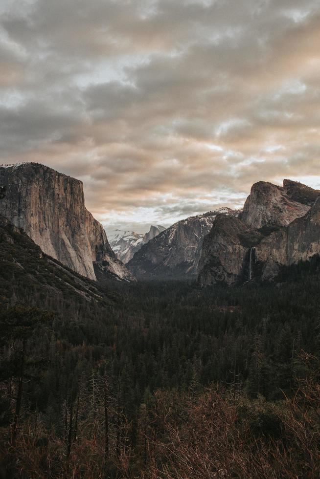 Rocky mountains at dusk photo