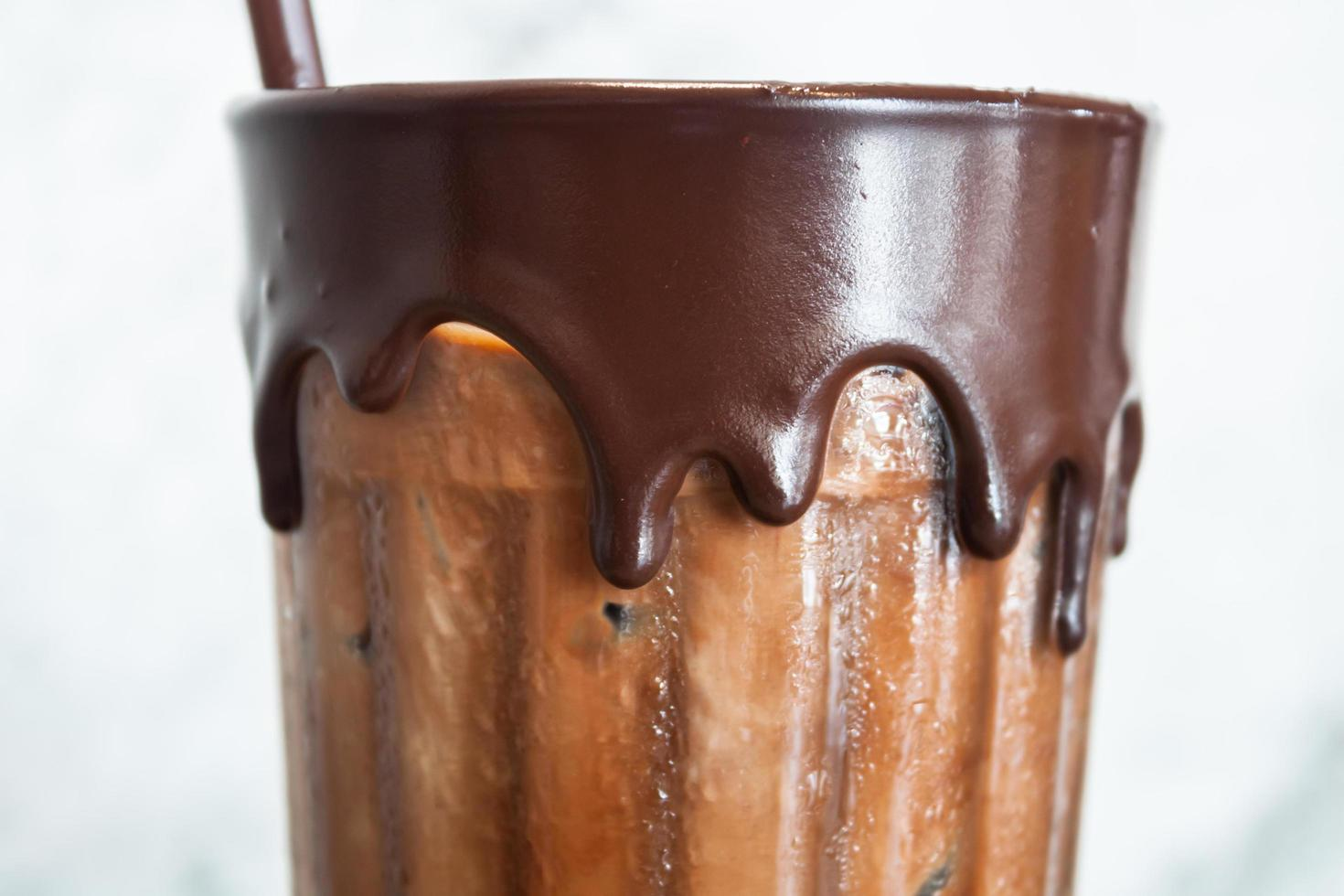 Iced coffee in coffee shop photo