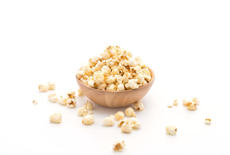 Popcorn in Holzschale foto