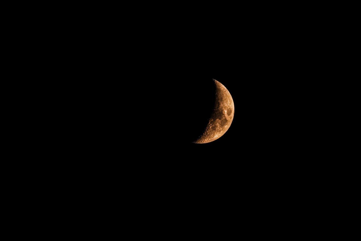 Orange crescent moon  photo