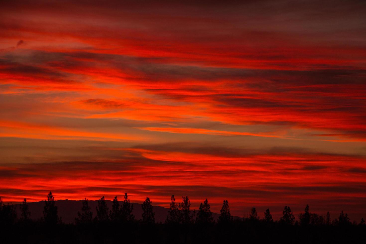Cloudy sky at sunset photo