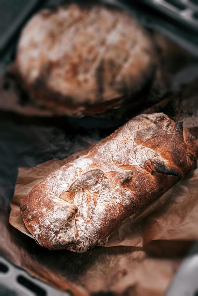 pan recién horneado foto