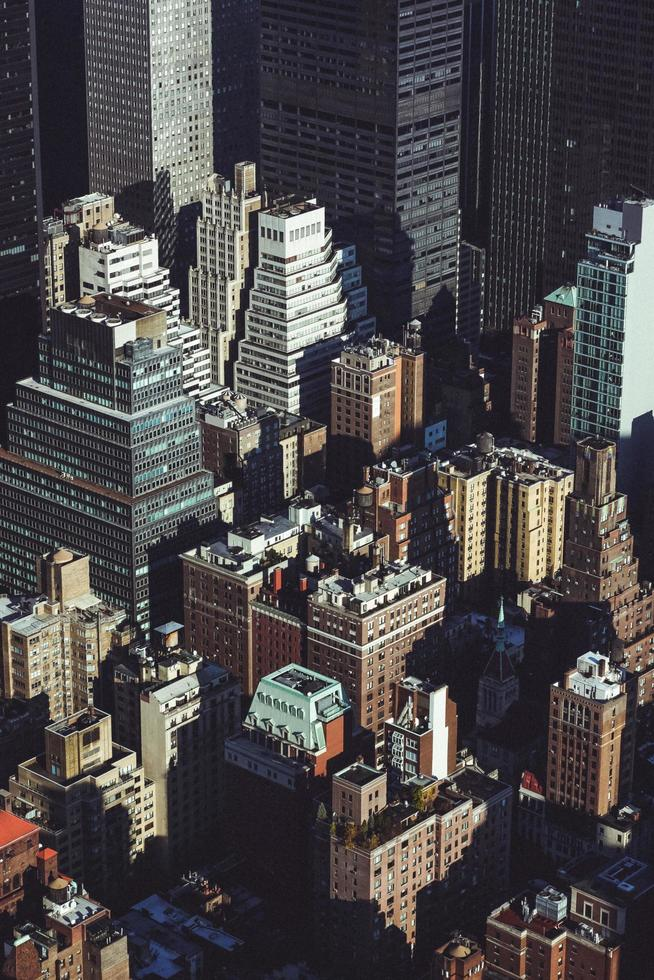 Aerial photography of buildings photo