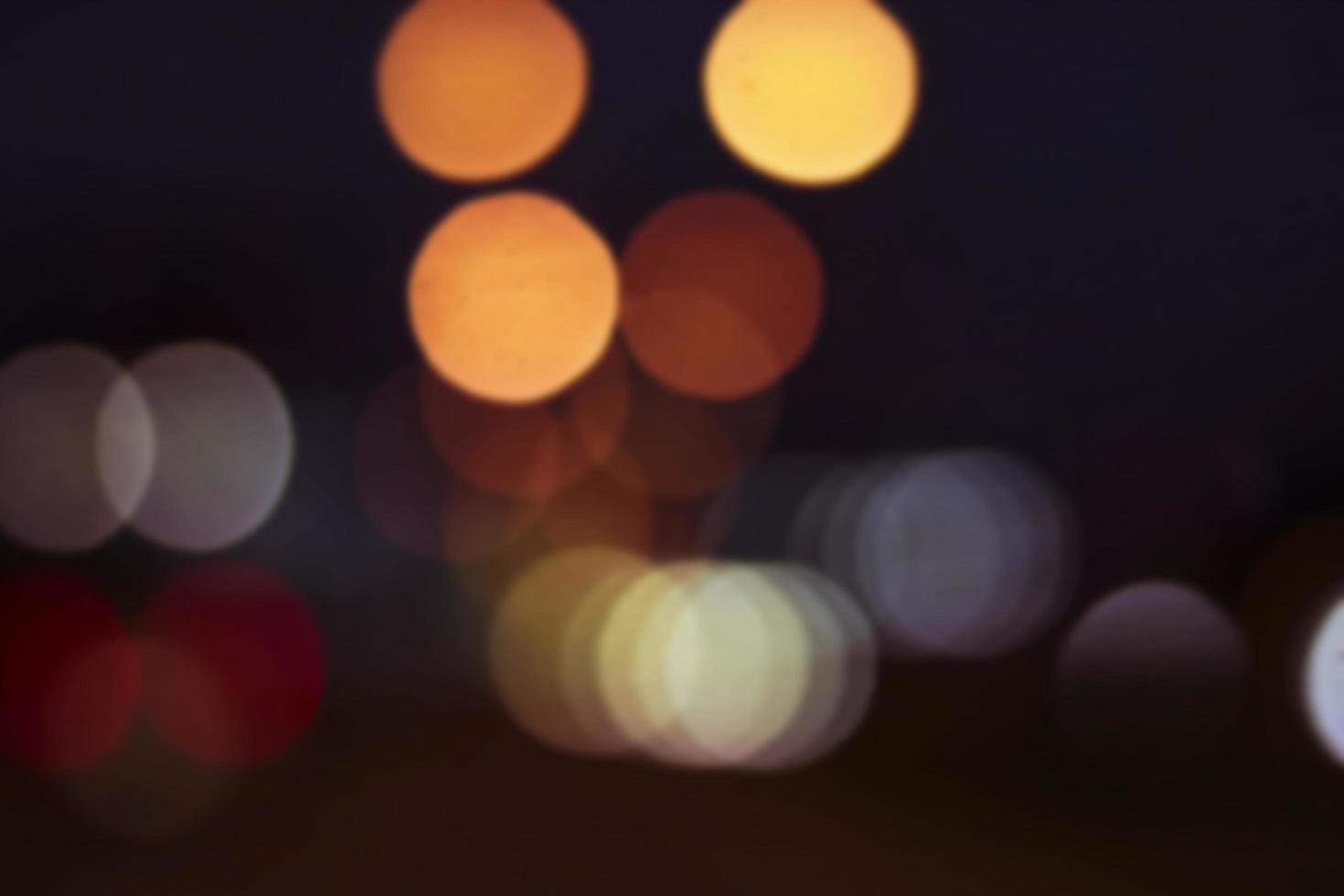 luci della città sfocati foto