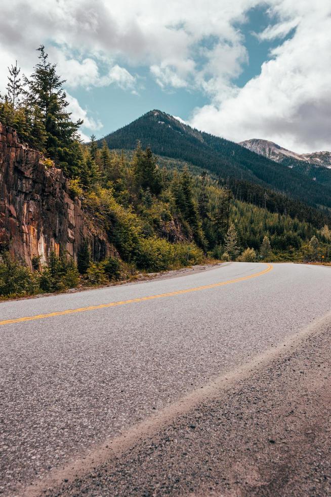 carretera en campo foto