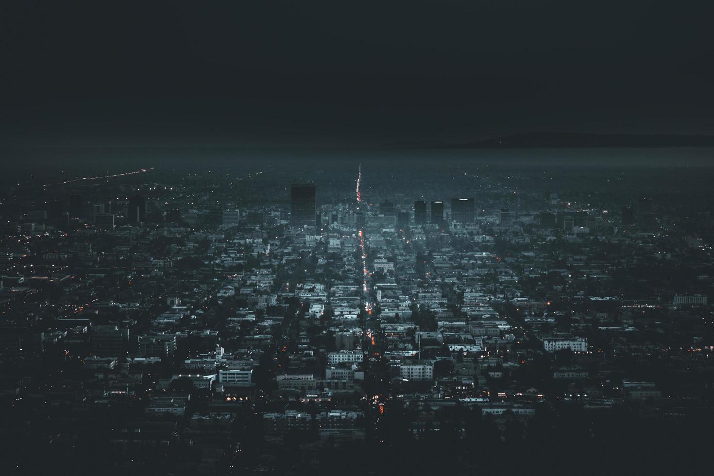 View of city at night photo
