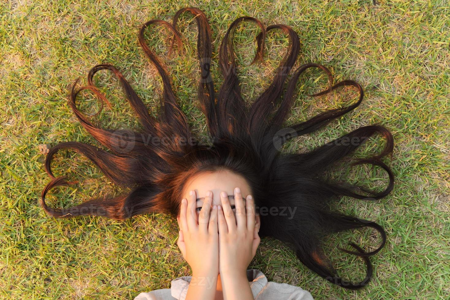 Girl cool hairstyle photo