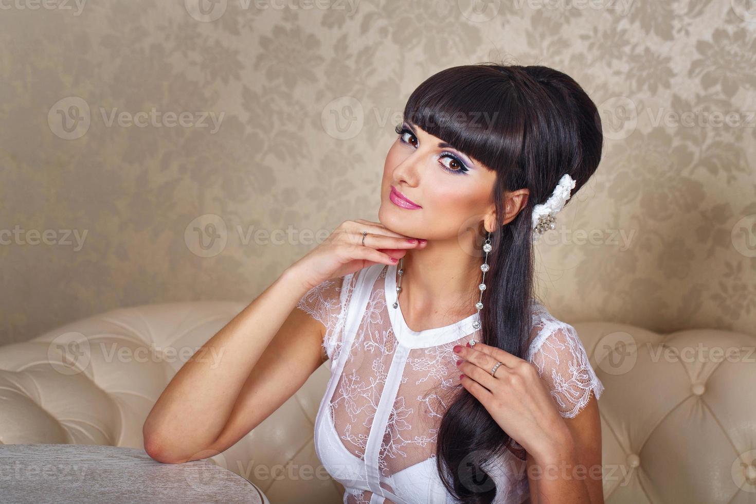 Portrait of bride photo