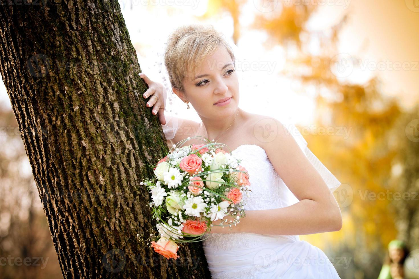 hermosa novia foto
