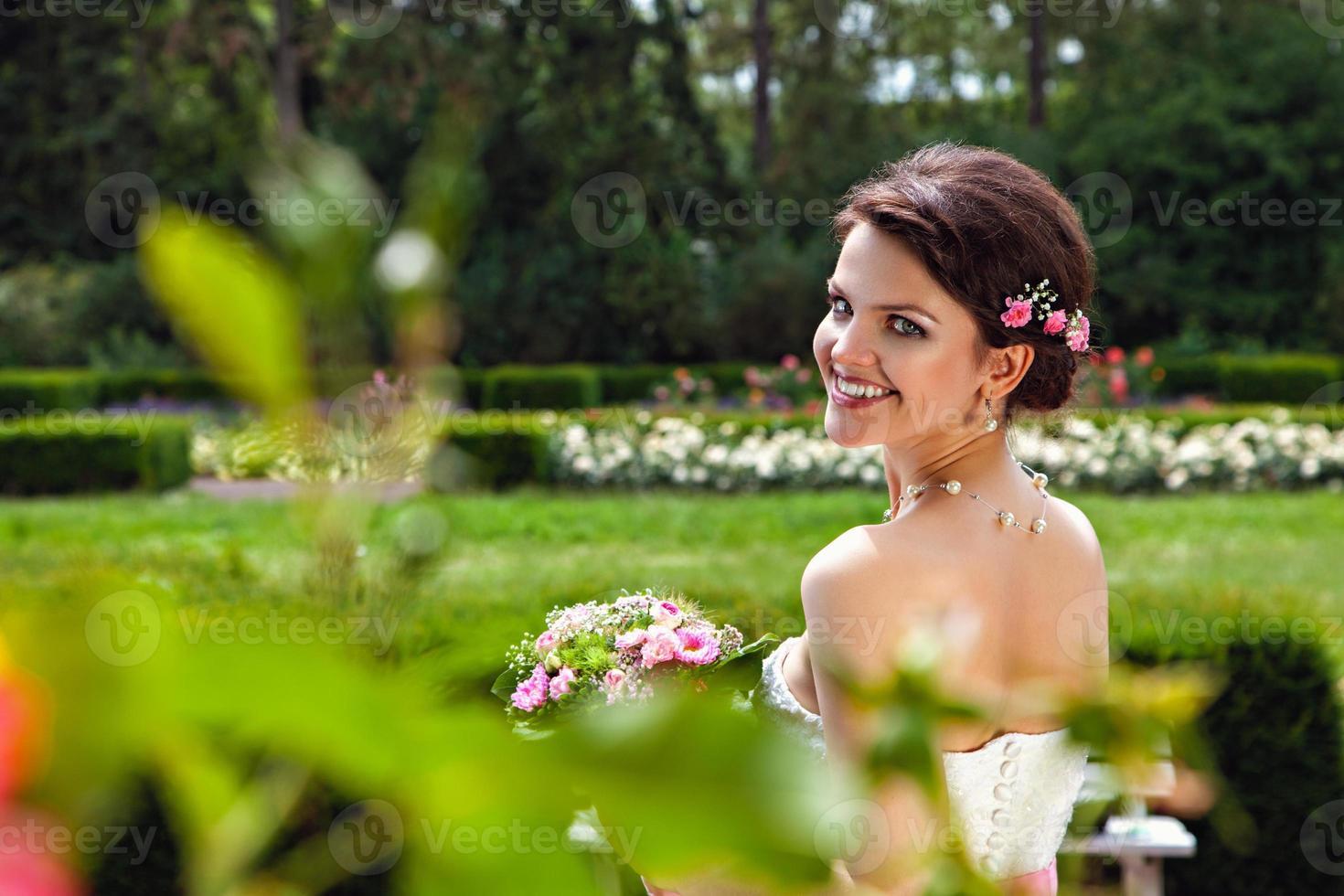 retrato de novia hermosa foto