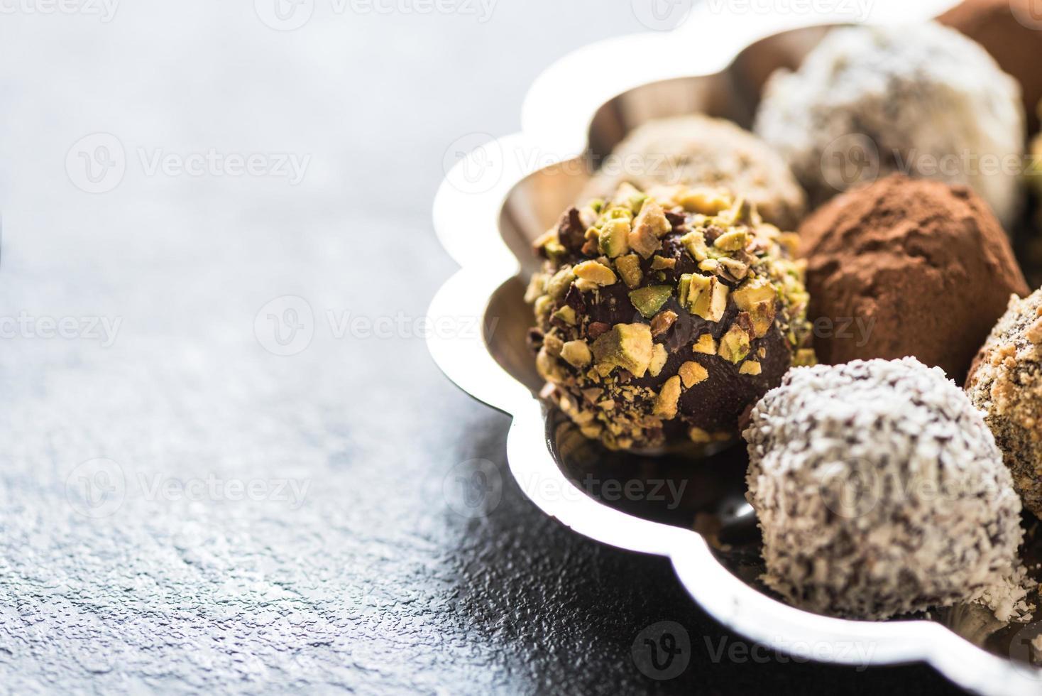 bombones de chocolate caseros foto