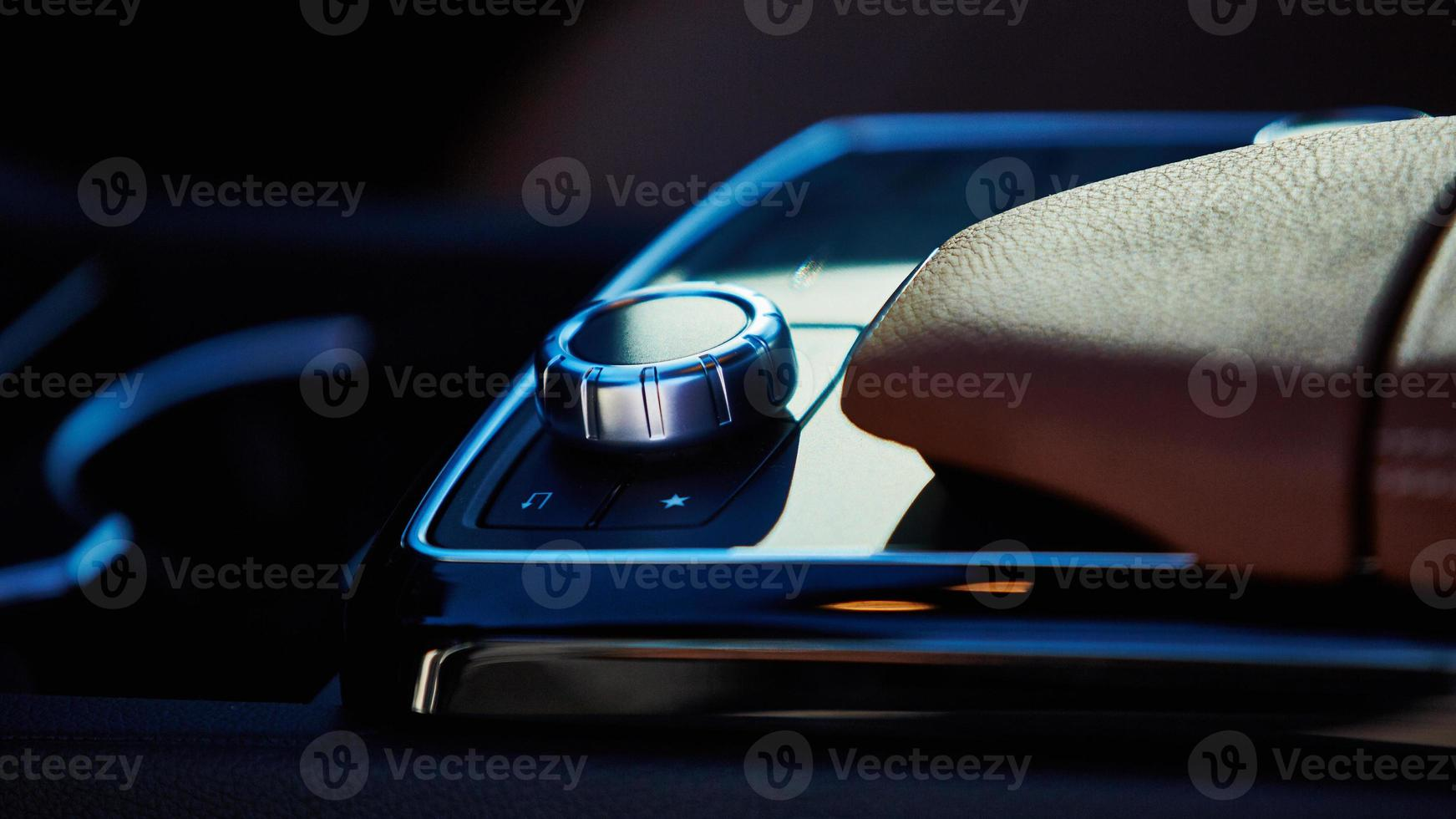 Luxury car interior details photo