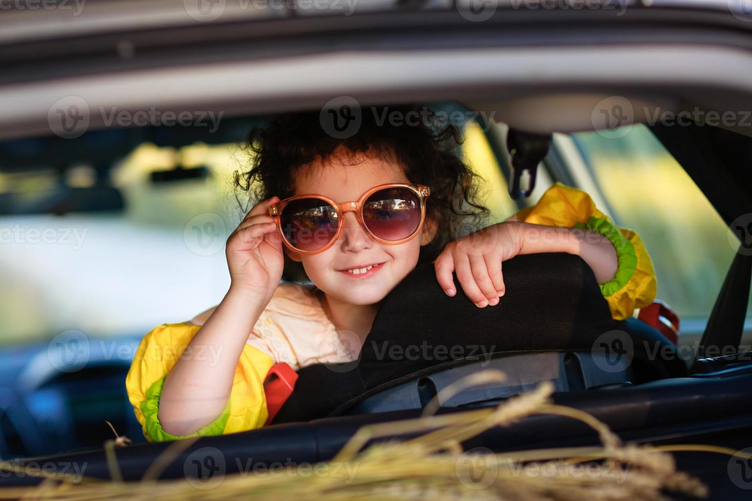 bright girl with glasses photo