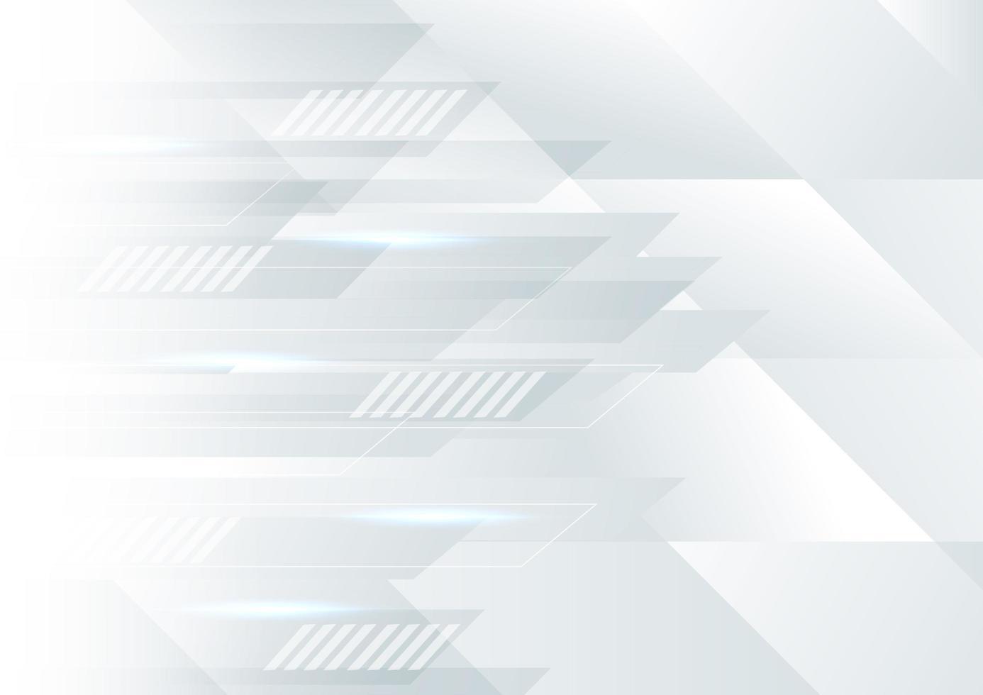 Fondo en movimiento geométrico blanco y gris abstracto vector