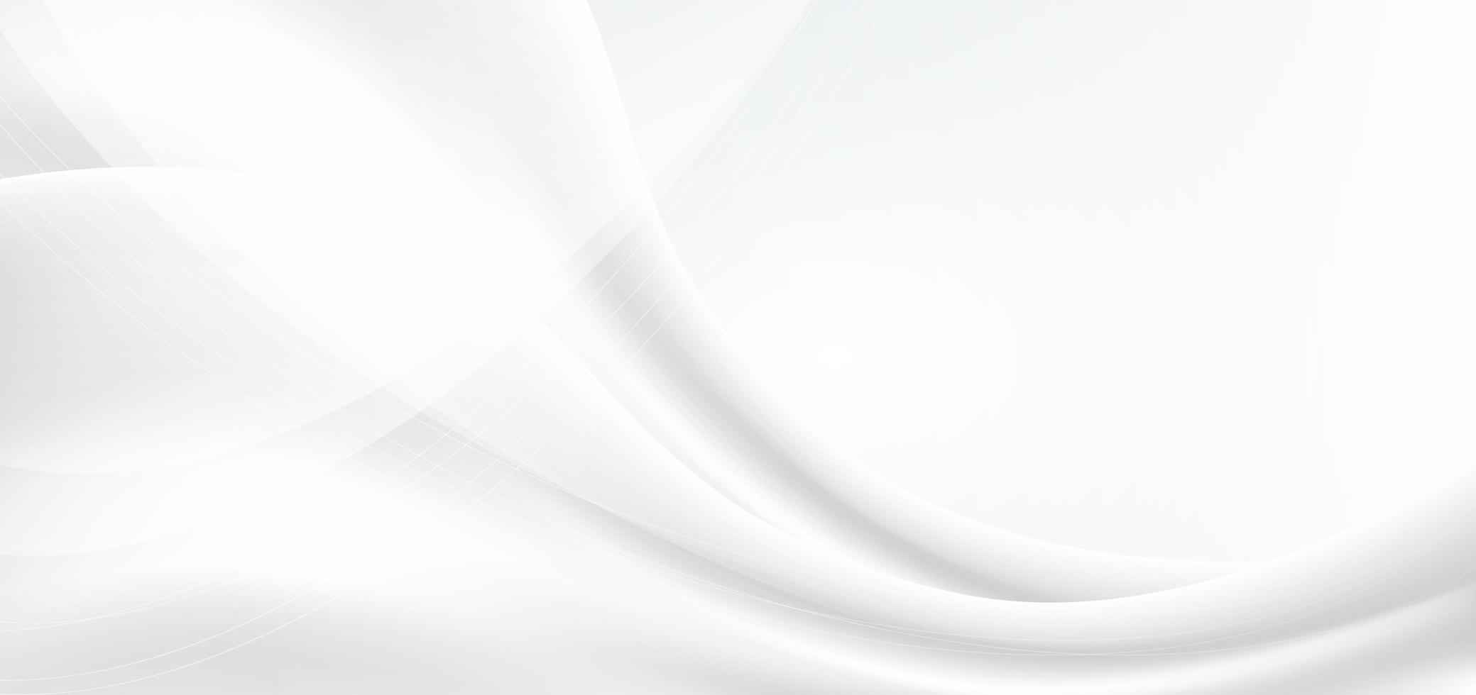 White and Grey Waves Background vector