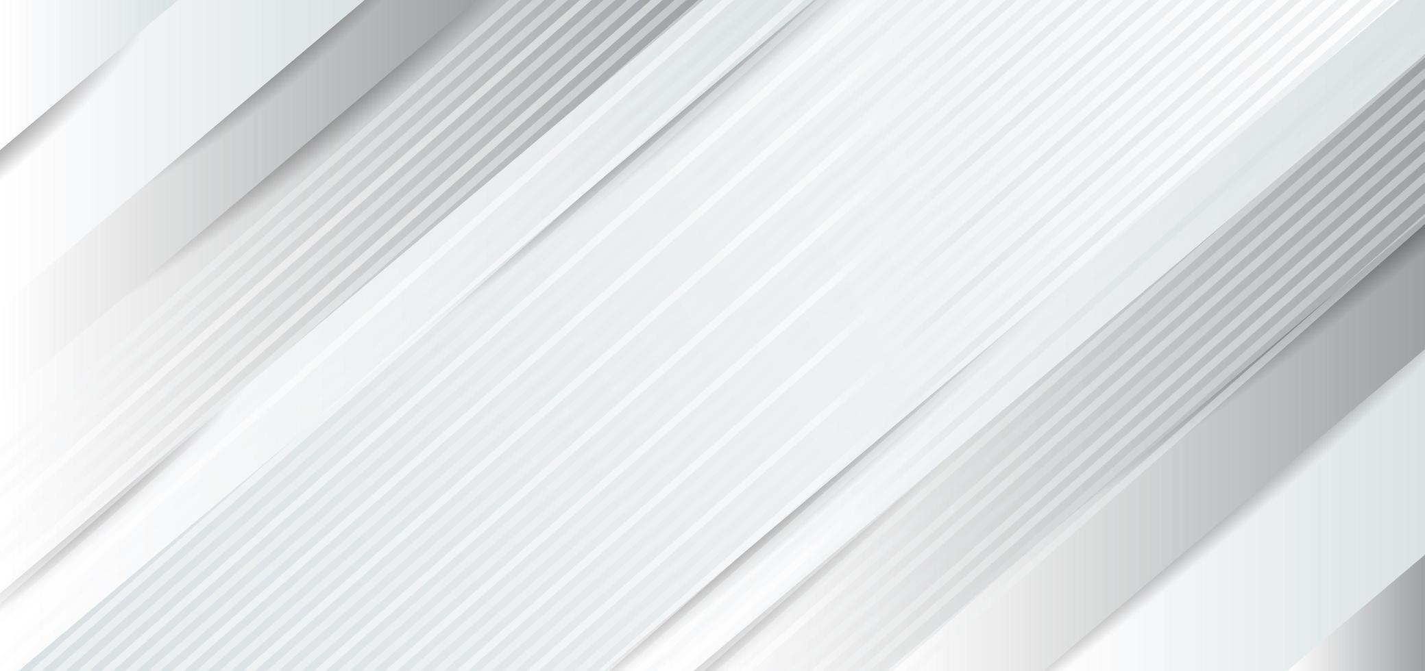 papel de fondo abstracto blanco, gris brillo y capas vector