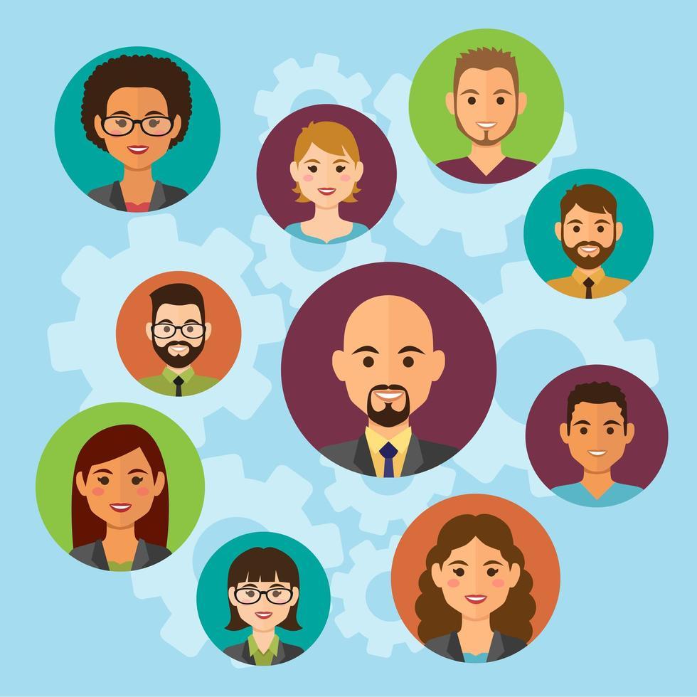 nube de avatar de gente de negocios vector