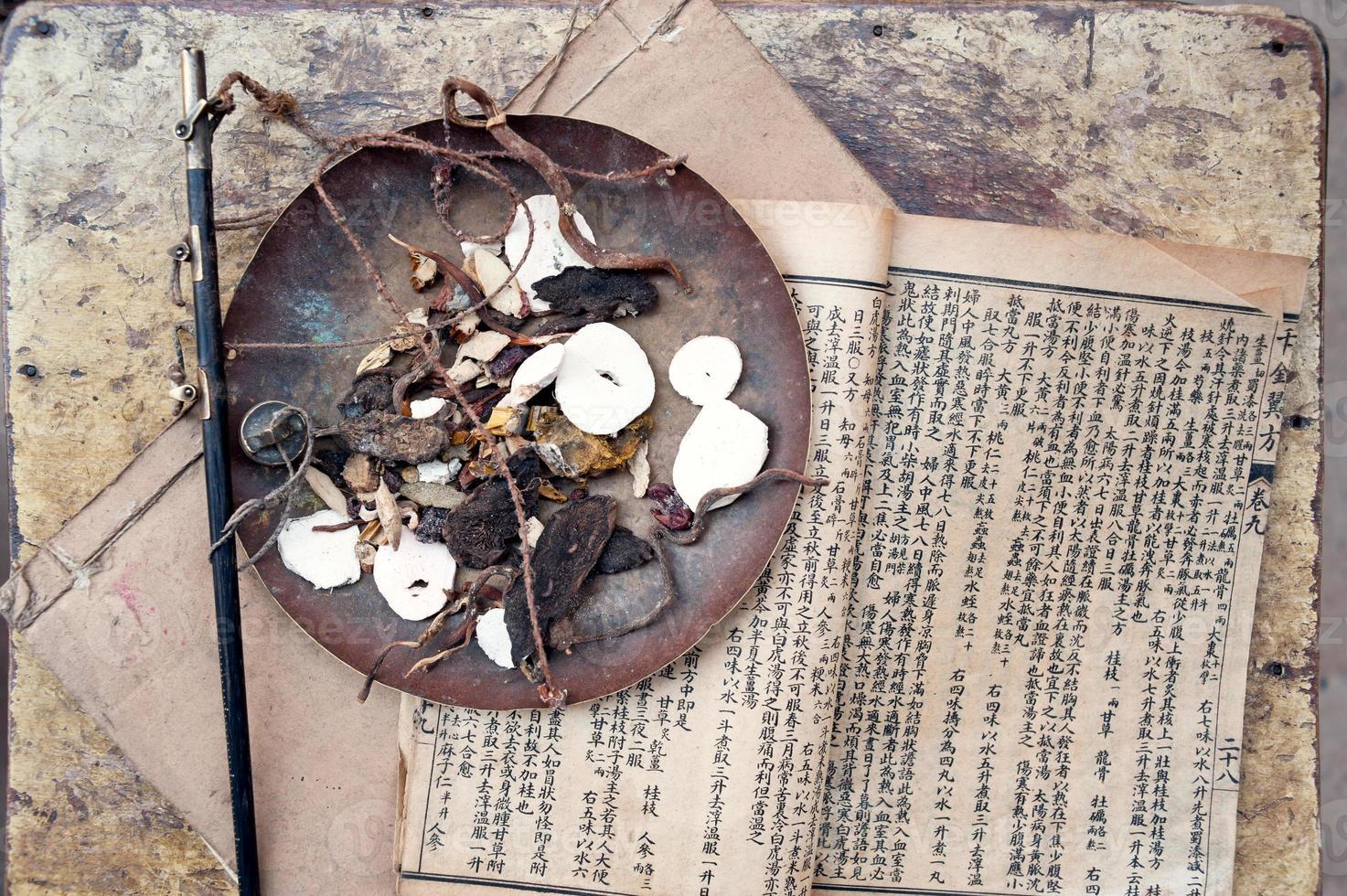 medicina herbal china foto