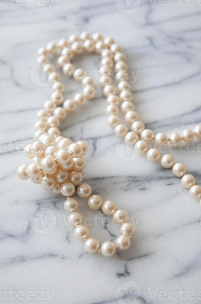 1920's Pink Pearl Necklace photo