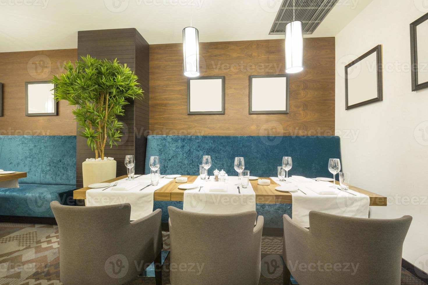 Elegant restaurant interior photo