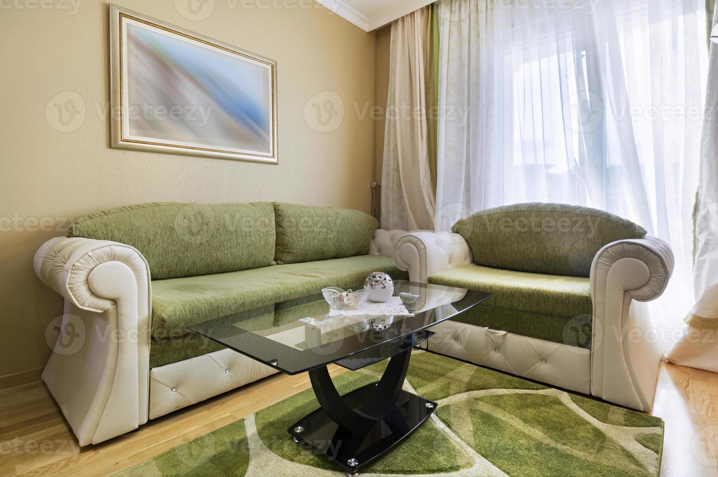 elegante sala de estar interior foto