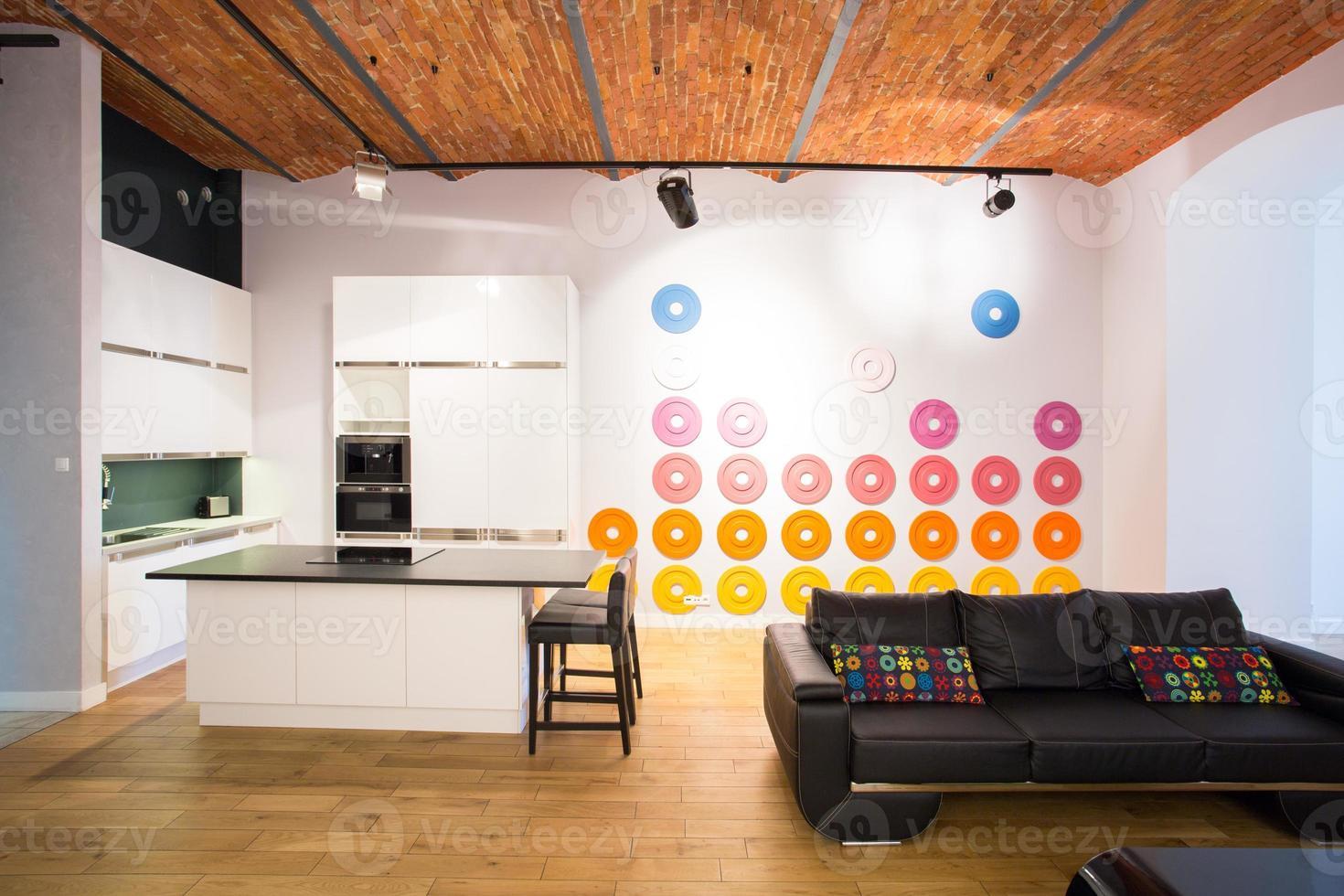 decoración de color en la pared foto