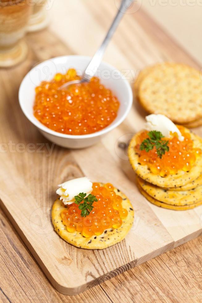 caviar rojo foto