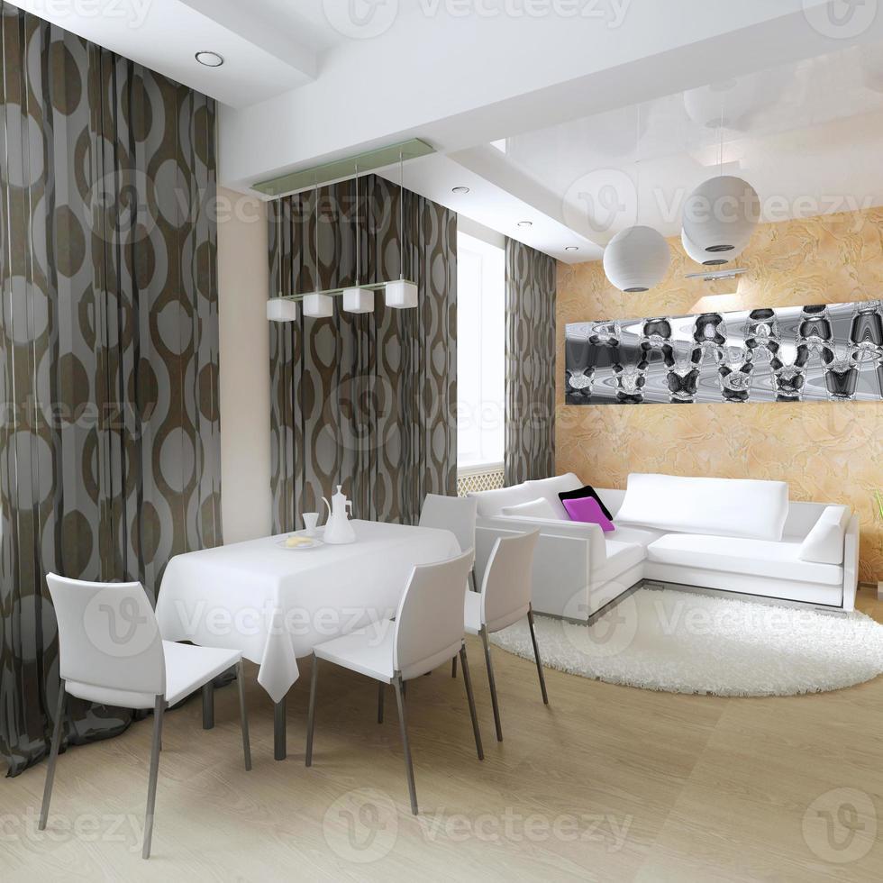 interior moderno de la sala de estar foto