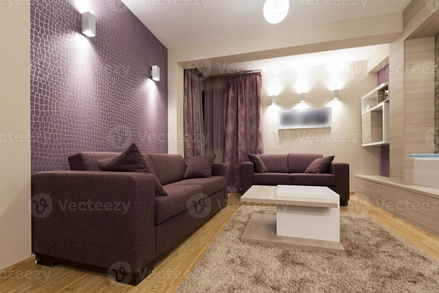 interior de apartamento de lujo moderno foto