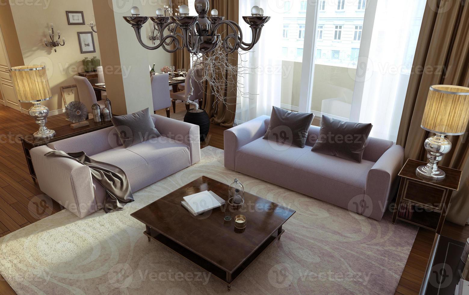sala de estar art deco y estilo moderno foto
