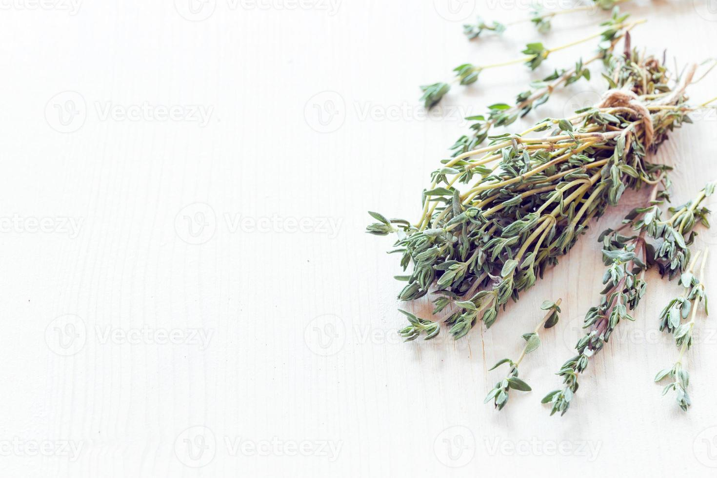 Dried herbs thyme photo