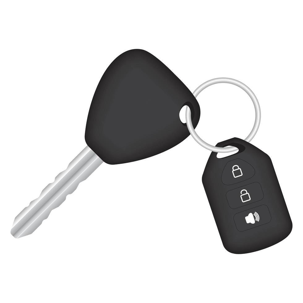 uma chave de carro em fundo branco vetor