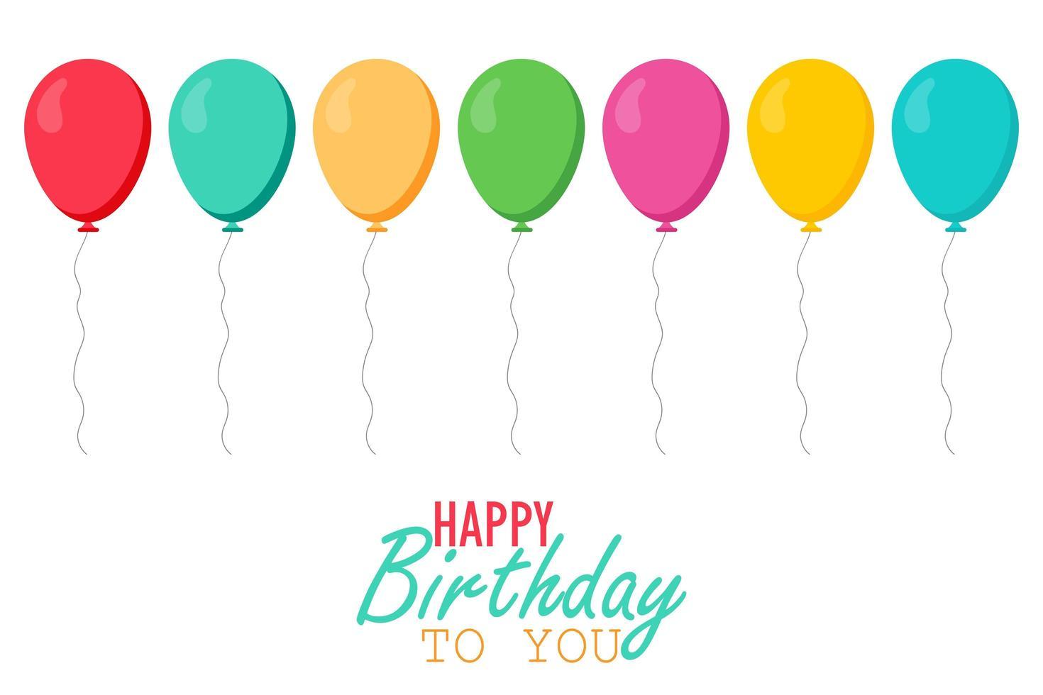 balões coloridos de aniversário vetor