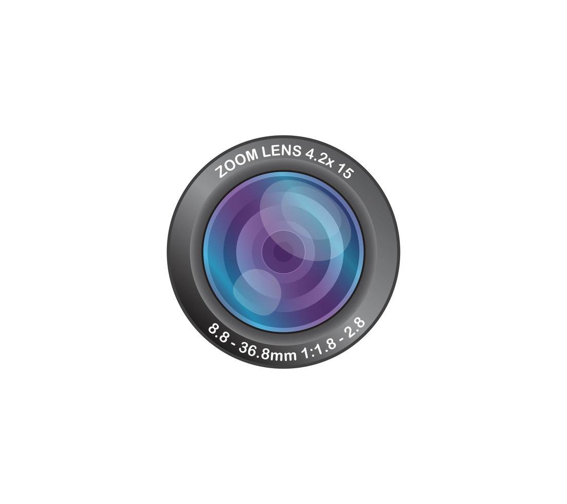 Lente de cámara fotográfica 8.8-36.8 mm vector