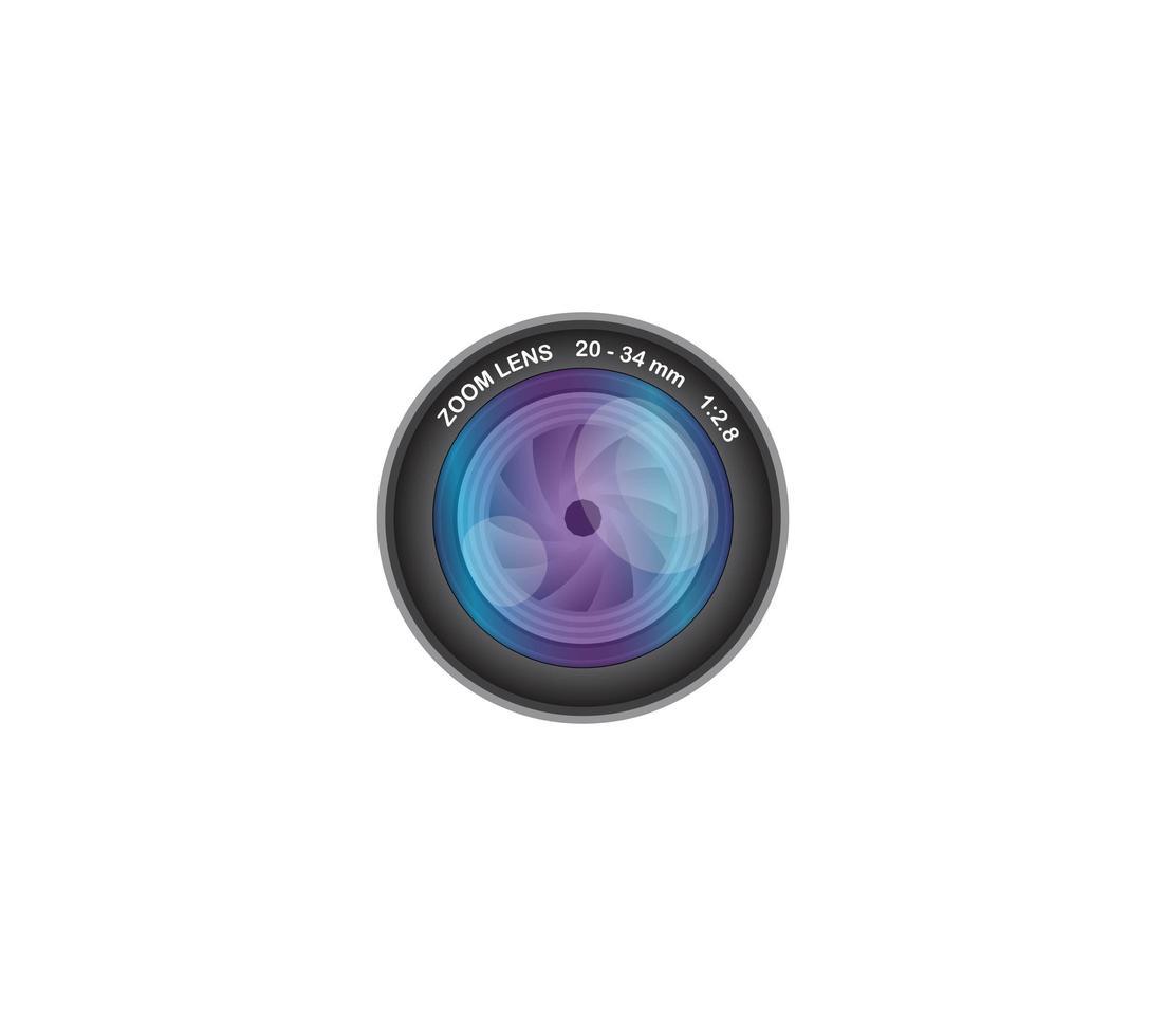 lente fotográfica da câmera 20-34 mm vetor
