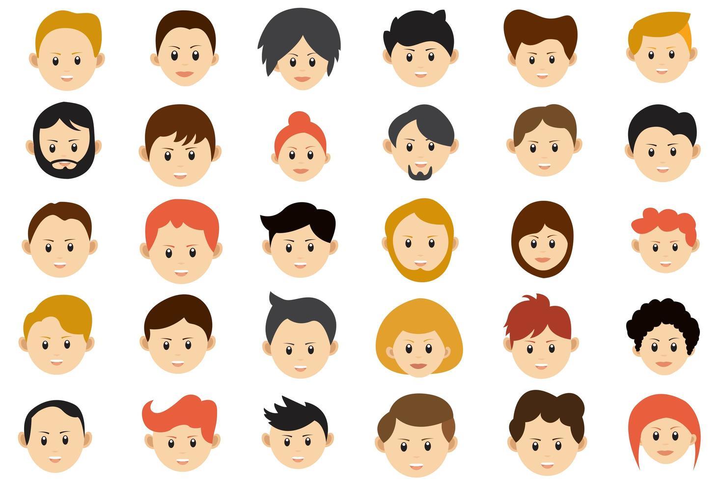 coleção de avatar de pessoas vetor