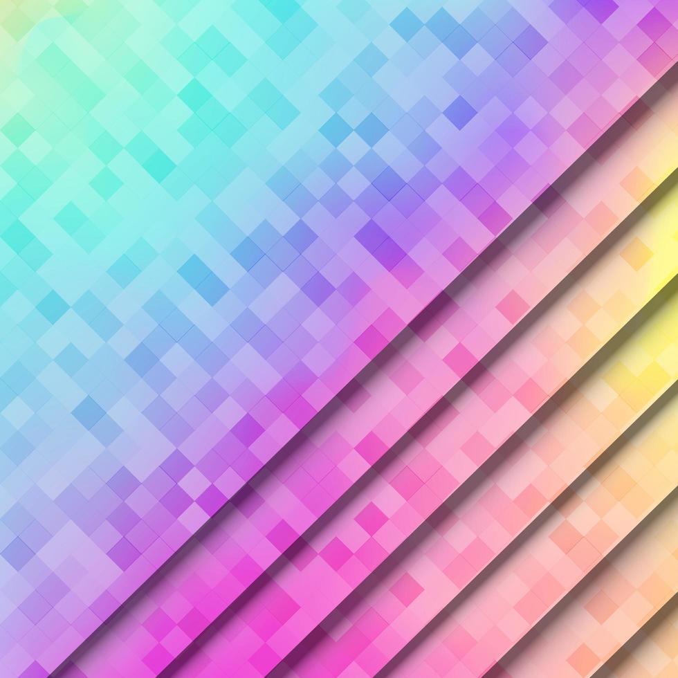 abstrato, colorido pixel quadrado de fundo vetor