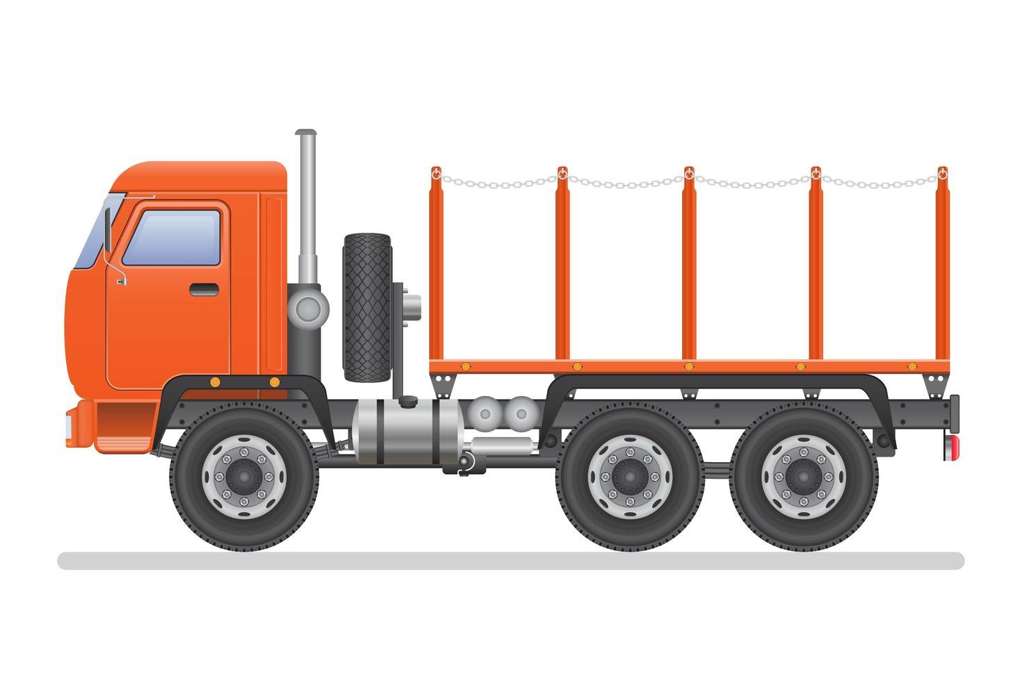 caminhão com correntes vetor