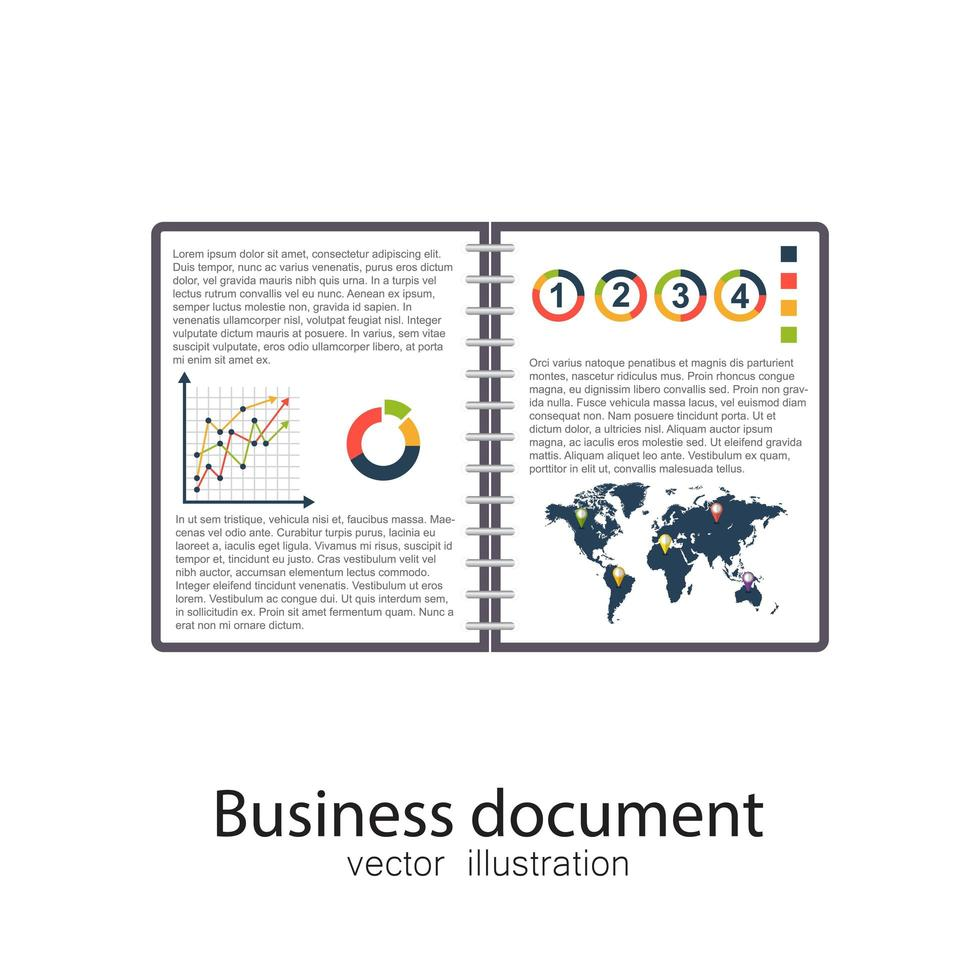 documento comercial abierto vector