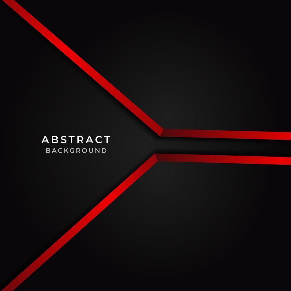 modelo de fundo abstrato vermelho e preto vetor