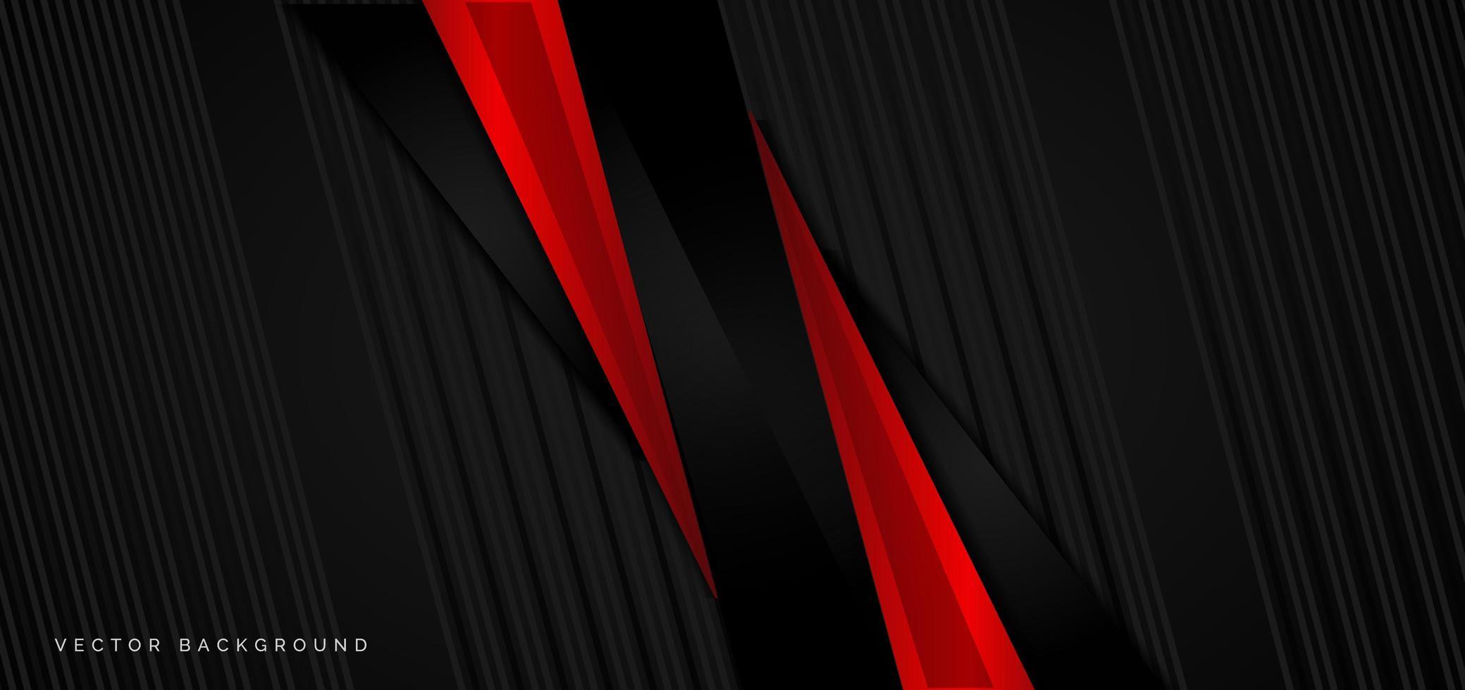 modelo de banner de fundo abstrato vermelho e preto corporativo vetor