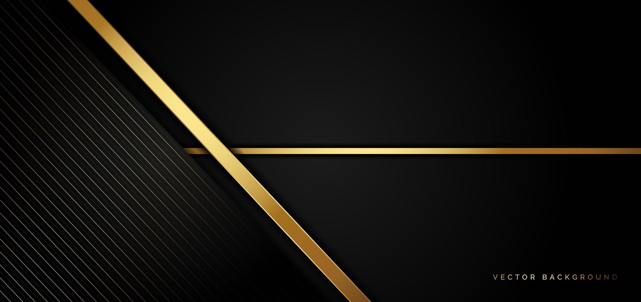 fundo de negócios preto com listras douradas em um estilo luxuoso vetor