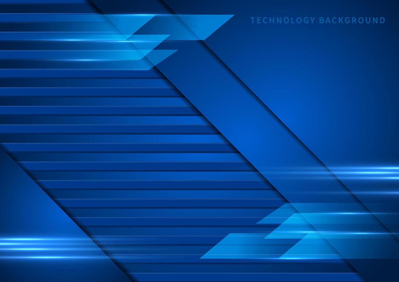 tecnología, fondo azul abstracto y geométrico vector